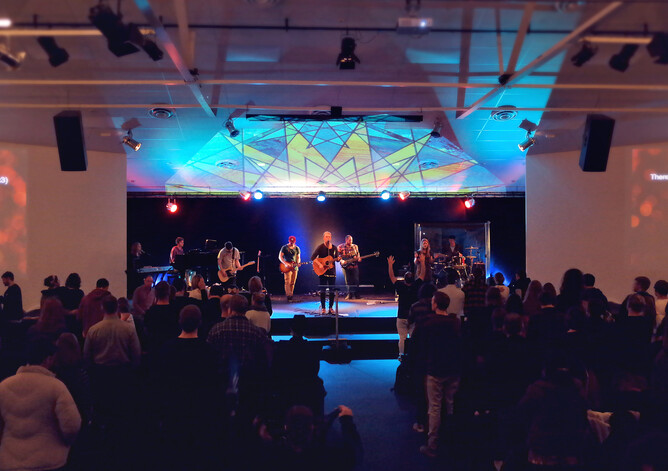 Sunday worship at The Street City Church today